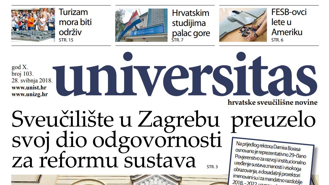 Sveučilišne novine Universitas br. 103 - svibanj/2018