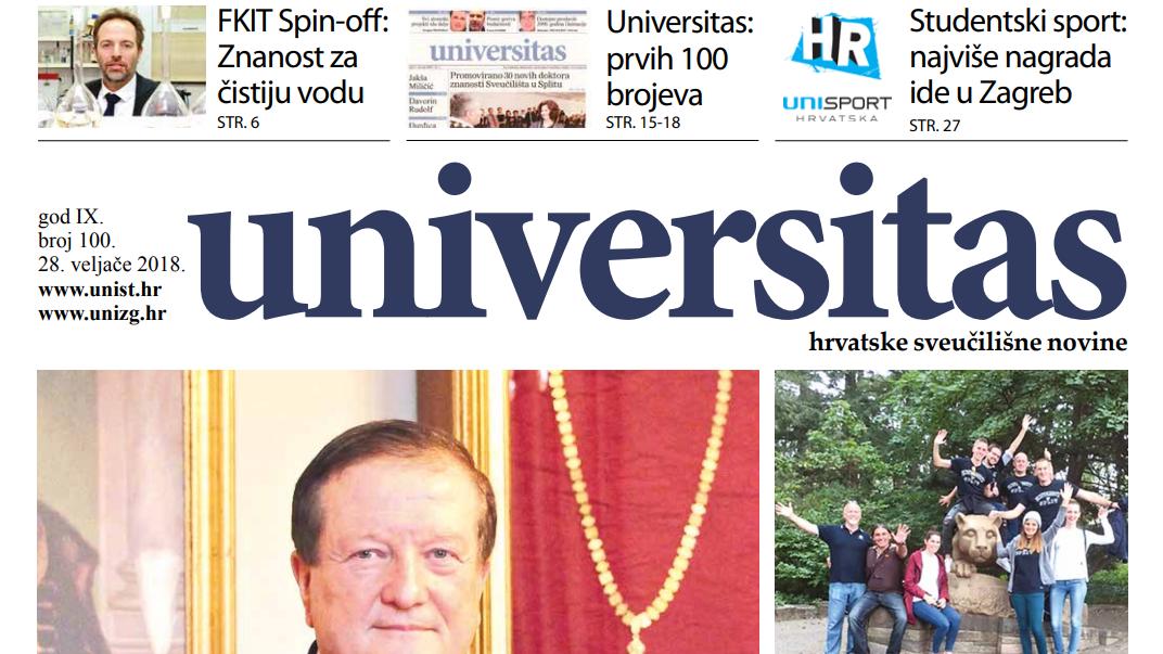 Sveučilišne novine Universitas br. 100 - veljača/2018