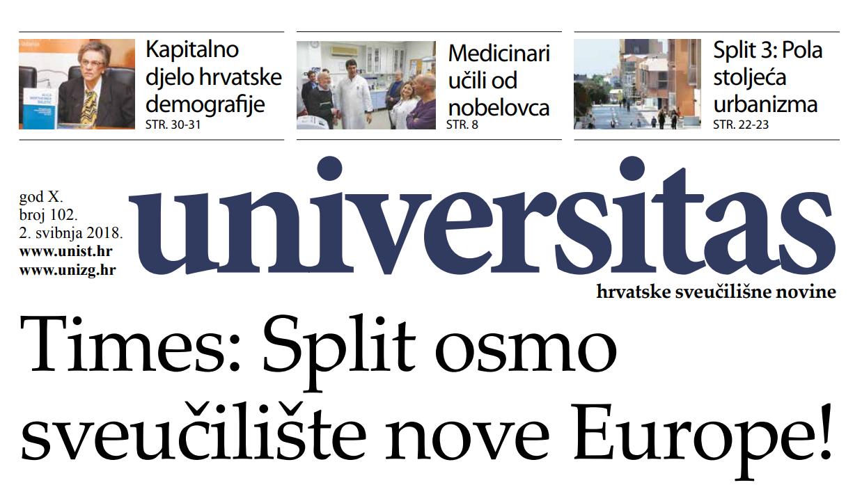 Sveučilišne novine Universitas br. 102 - travanj/2018