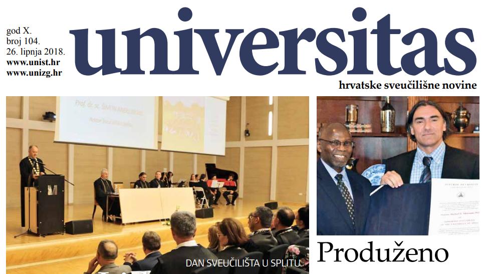 Sveučilišne novine Universitas br. 104 - lipanj/2018