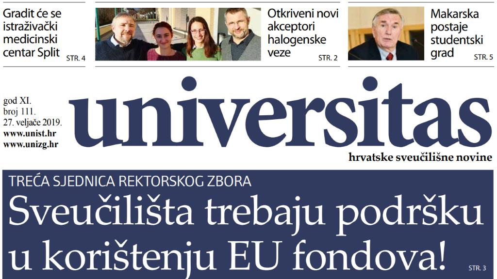 Sveučilišne novine Universitas br. 111 - veljača/2019