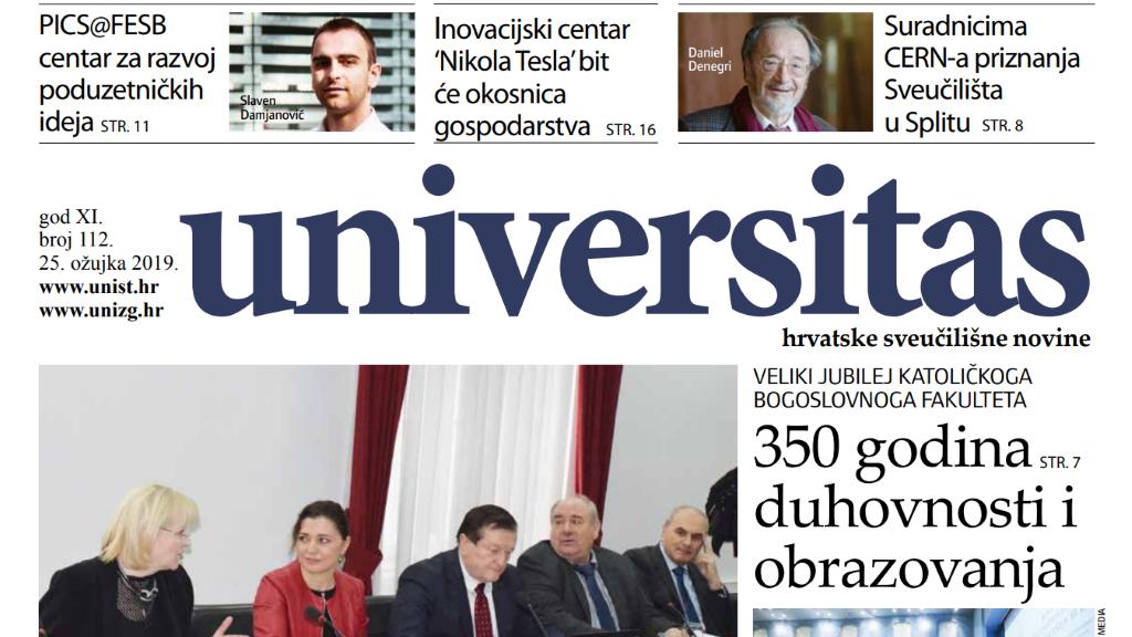 Sveučilišne novine Universitas br. 112 - ožujak/2019