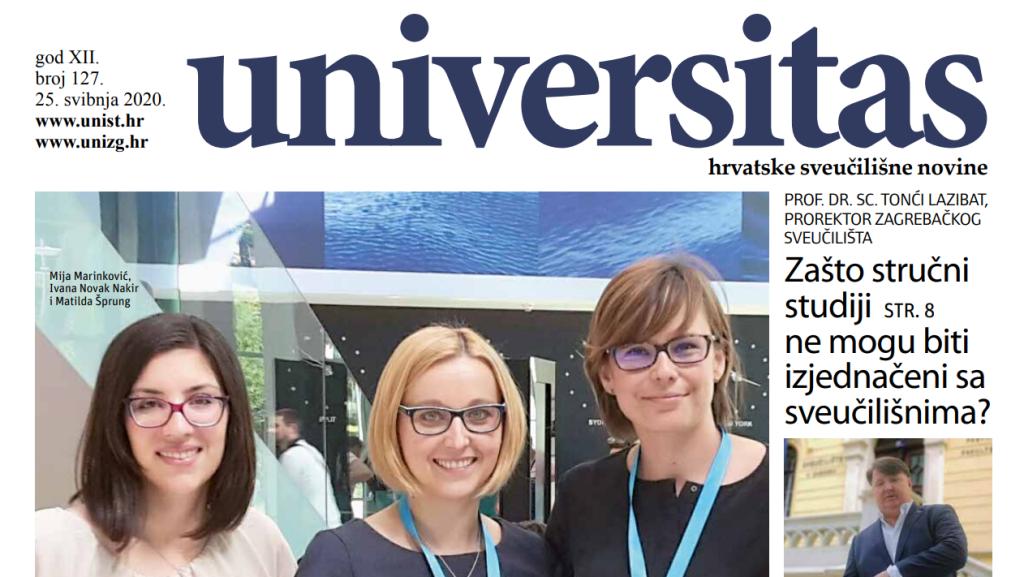 Sveučilišne novine Universitas br. 127 - svibanj 2020.