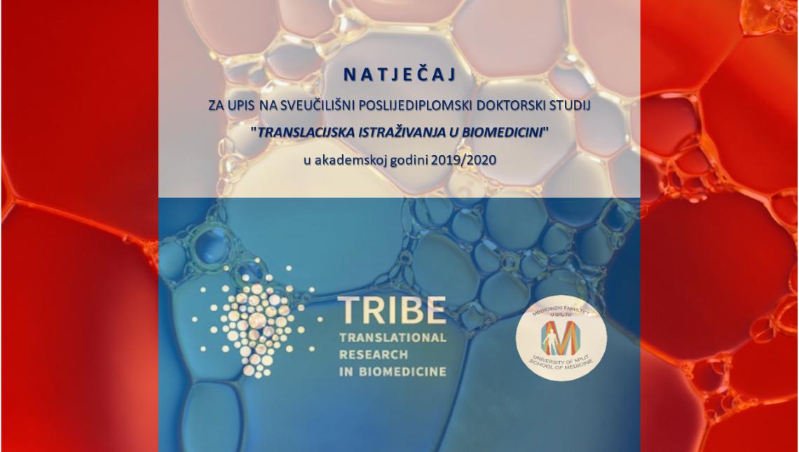 Doktorski studij TRIBE - natječaj za upis u akademsku godinu 2019/2020