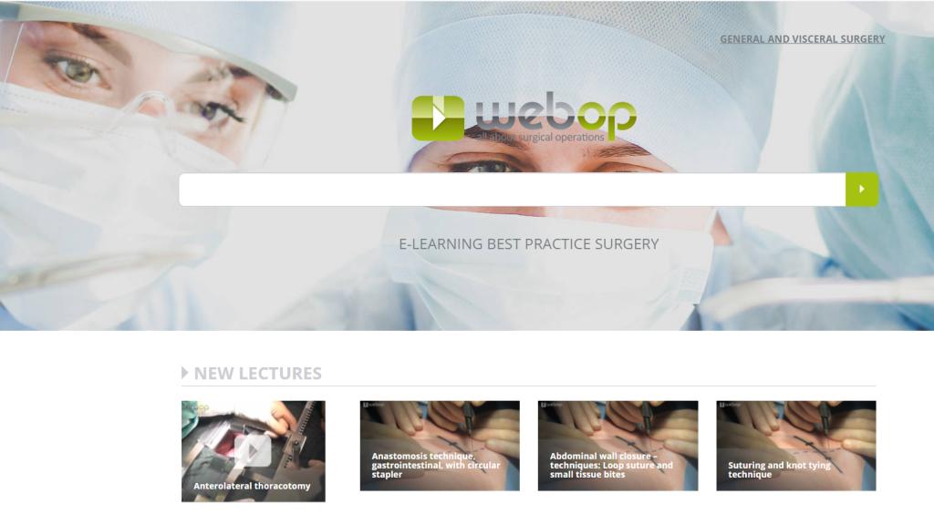 09. 12. 2020. Jednogodišnji probni pristup edukacijskoj platformi za područje kirurgije Webop