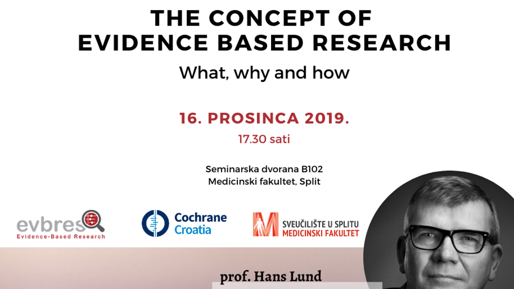 Prof. Hans Lund održat će predavanje na temu The Concept of Evidence Based Research