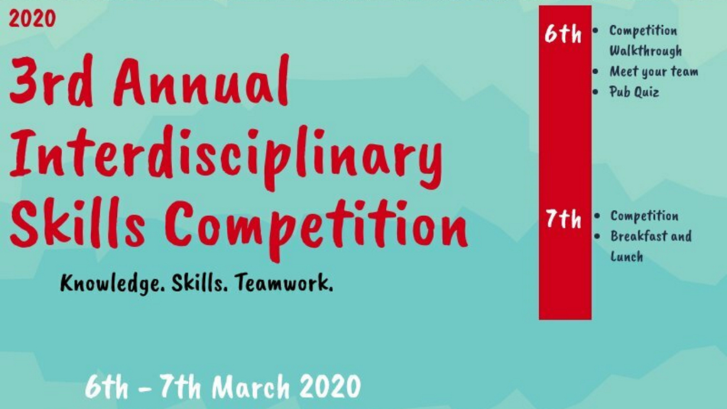 3rd Annual Interdisciplinary Skills Competition 2020