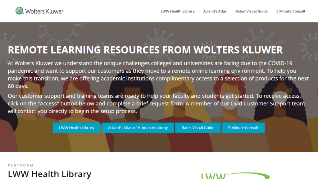 Wolters Kluwer je omogućio probni pristup platformi Remote Learning Resources