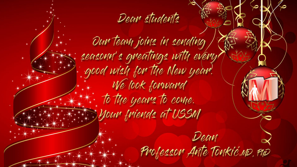 Dear Students, Merry Christmas and Happy New Year!