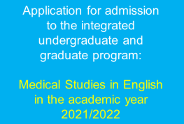 Call for applicants: Medical Studies in English 2021/2022