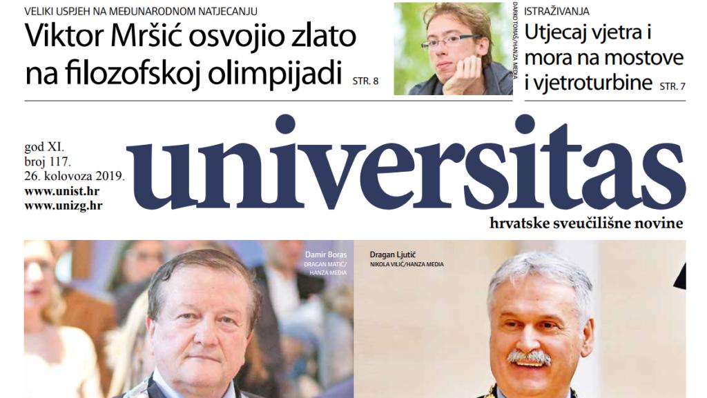 Sveučilišne novine Universitas br. 117 - kolovoz/2019