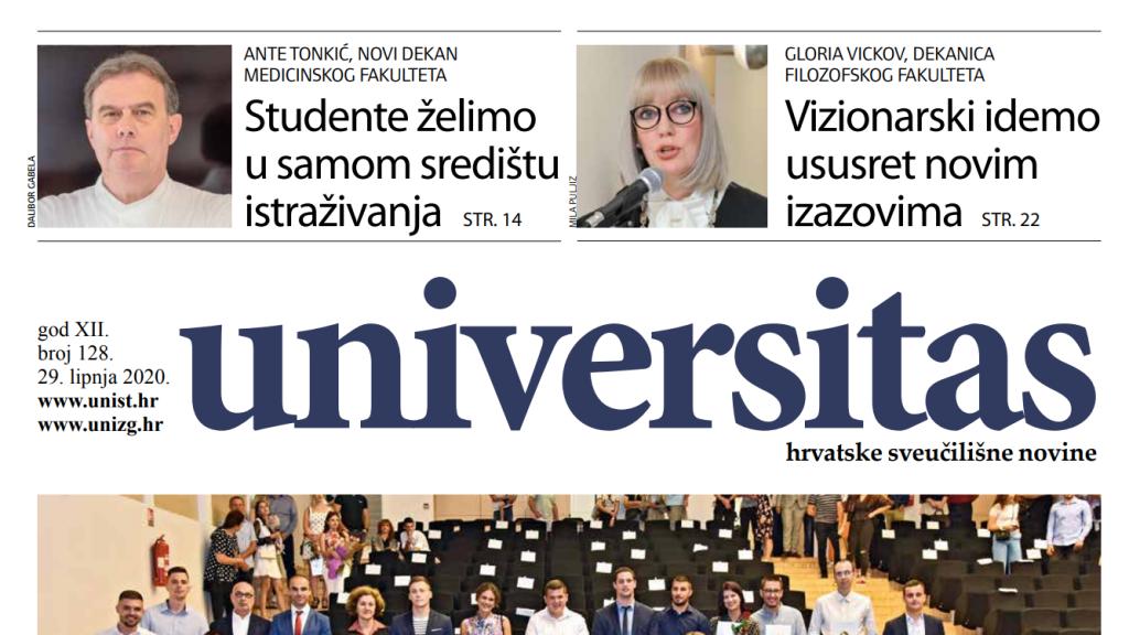 Sveučilišne novine Universitas br. 128 - lipanj 2020.