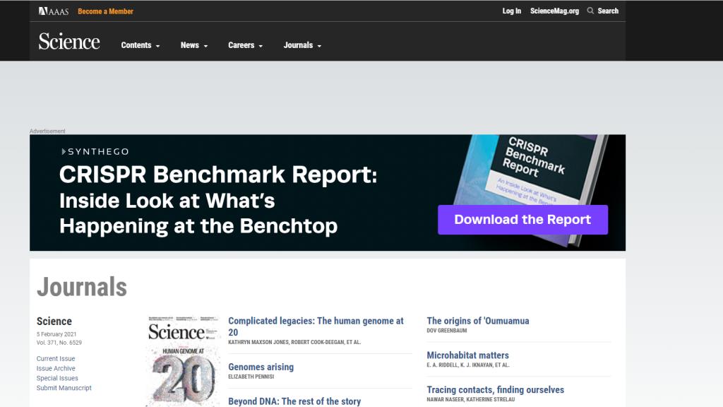 03. 11. 2020.   Science Journals (AAAS) - otvoren pristup